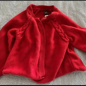 Tea Collection red toddler 3T cardigan